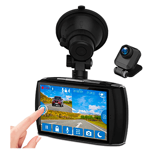 Z-Edge Dash Cam Front and Rear 4.0 Touch Screen Dual Dash Cam FHD 1080P with Night Mode, 32GB Card Included,155 Degree Wide Angle